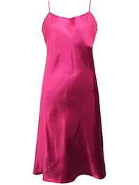 Victoria's Secret CHERRY Satin Skinny Strap Lingerie Slip - Size Small to Large