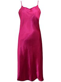 Victoria's Secret MAGENTA Satin Skinny Strap Lingerie Slip - Size Small to Large