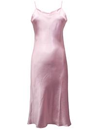 Victoria's Secret PALE PINK Satin Skinny Strap Lingerie Slip - Size Medium to Large