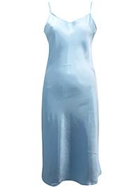 Victoria's Secret PALE BLUE Satin Charmeuse Thin Strap Slip Nightdress - Size Medium to Large