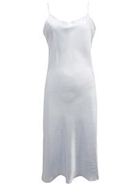 Victoria's Secret WHITE Satin Skinny Strap Lingerie Slip - Size Small to Large