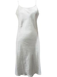 Victoria's Secret IVORY Satin Charmeuse Thin Strap Slip Nightdress - Size Small to Large