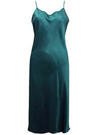 Victoria's Secret EMERALD Satin Thin Strap Slip Nightdress - Plus Size 14/16 (Large)