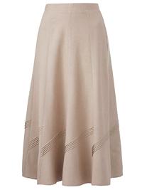 Mar1sota STONE Linen Blend A-Line Long Skirt - Plus Size 12 to 32