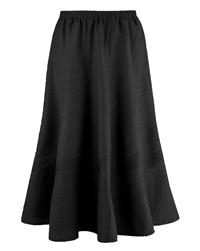 Marisota BLACK Linen Blend 27in Midi Skirt - Size 10 to 32