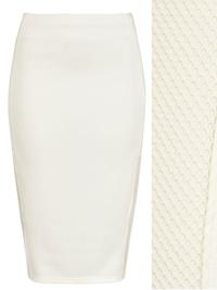R1ver 1sland IVORY Fishnet Panel Bodycon Skirt - Size 14 to 18