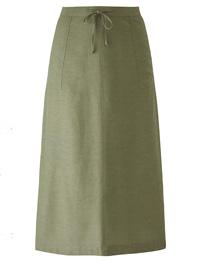 Capsule KHAKI Trendy Patch Pocket Linen Blend Skirt - Plus Size 14 to 30