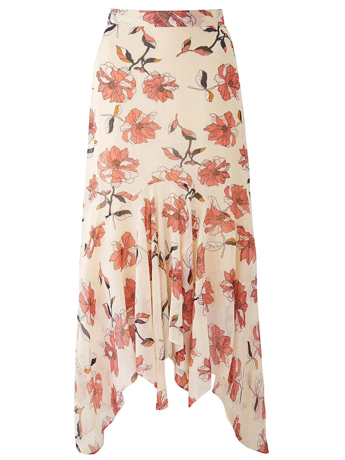 7b05ccc31b8 Joanna Hope - - Joanna Hope CREAM Floral Print Layered Skirt - Plus Size 22  to 32
