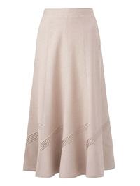 Julipa STONE Linen Blend Pintuck Skirt - Plus Size 20 to 28