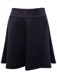 Mia Moda BLACK Pull On Skater Skirt - Size 10 to 20