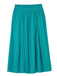 WH1TE STUFF TURQUOISE Sorrel Crinkle Flared Midi Skirt - Size 12 to 14