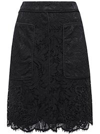 CO4ST BLACK Crochet Lace A-Line Skirt - Size 6 to 18