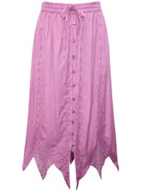 eaonplus MAUVE Renaissance Gothic Zigzag Skirt - Plus Size 18 to 36