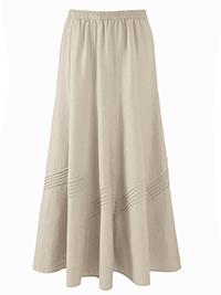 Anthology STONE Linen Blend Skirt - Size 12 to 30