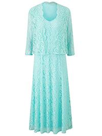 Nightingales MINT Occasion Lace Dress & Jacket - Size 10