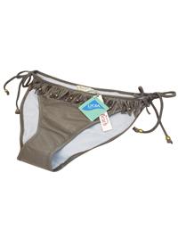 M0ns00n Accessorize KHAKI Embellished Fringe Bikini Bottoms - Size 14 to 18