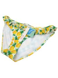 M0ns00n Accessorize YELLOW Pineapple Frill Bikini Bottoms - Size 14 to 16