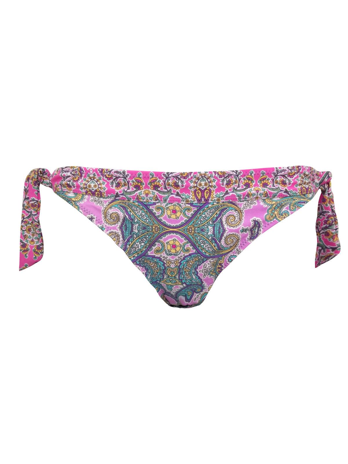 M0NS00N Accessor1ze PINK Paisley Print Tie Side Bikini Bottoms - Size 12 to 18