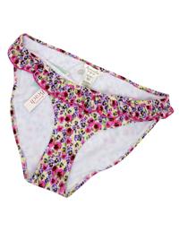 M0ns00n Accessorize PINK Floral Print Frill Trim Bikini Bottoms - Size 6 to 18