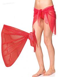 Naturana RED Polka Dot Tie Side Sarong - Size 8/10 to 16/18