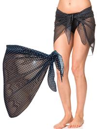 Naturana BLACK Polka Dot Tie Side Sarong - Size 8/10 to 16/18