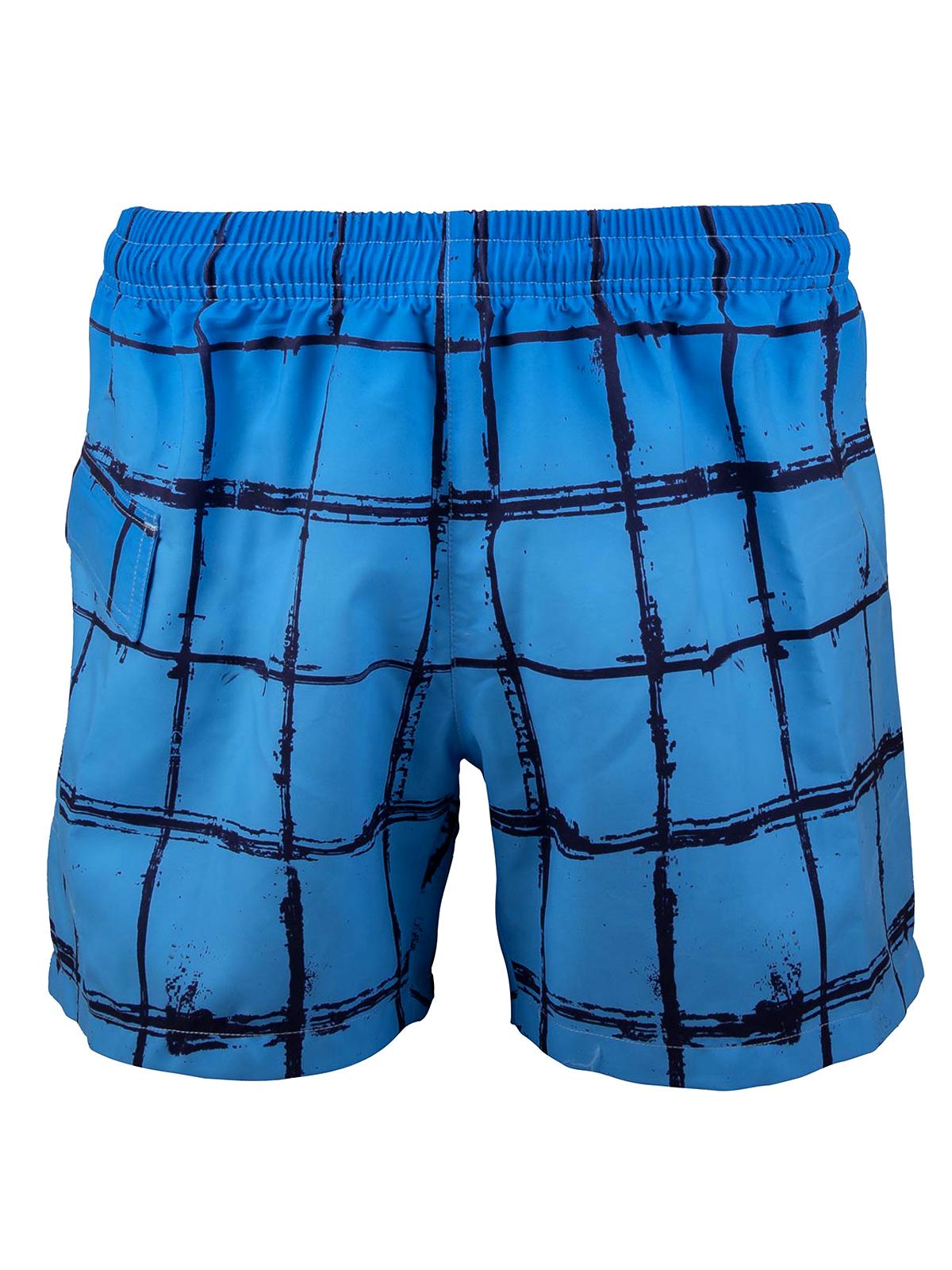 6922f7f844 Naturana - - Naturana BLUE Checked Swimming Trunks - Size Medium
