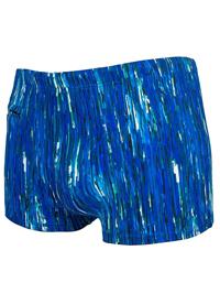 Naturana Mens BLUE Square Cut Swimming Trunks - Size Large