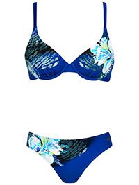 Naturana MARINE Tropical Floral Print Wired Bikini Set - Size 10