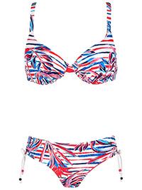 Naturana MARINE Floral & Stripe Wired Bikini Set - Size 10