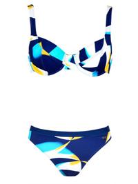 Naturana BLUE Abstract Print Wired Bikini Set - Size 10