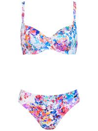 Naturana BLUE Watercolor Floral Wired Bikini Set - Size 10