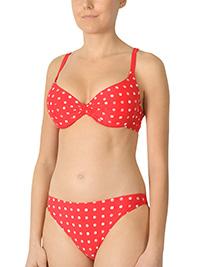 Naturana RED Spotted Push Up Bikini Set - Size 10