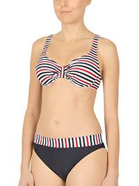 Naturana BLACK Striped Padded & Wired Bikini Set - Size 10