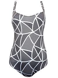 EVA GREY Printed Cross Back Swimsuit - Size 10
