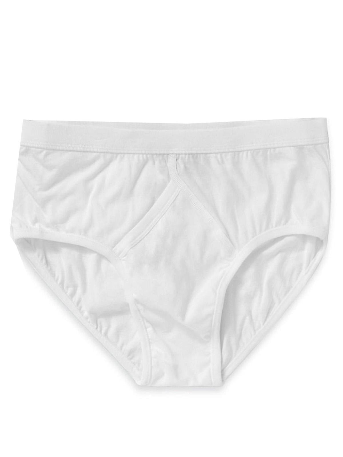 M&5 WHITE Mens Pure Cotton StayNew Briefs - Size Medium to XXL