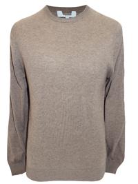 M&5 Mens MOCHA Cotton Blend Jumper - Size Medium to XLarge