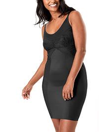 M&5 BLACK Medium Control Wear Your Own Bra Full Slip - Size 8 to 22