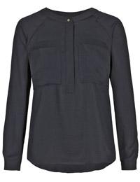 M&5 BLACK Long Sleeve Utility Shirt - Size 6 to 24