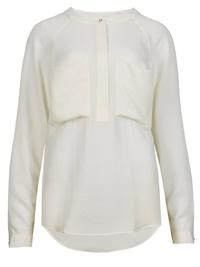 M&5 IVORY Long Sleeve Curved Hem Utility Shirt - Size 6 to 22
