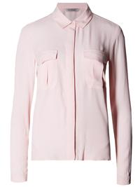 M&5 BLUSH Long Sleeve Boxy Pocket Shirt - Size 6 to 22