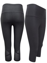 M&5 BLACK Performance Cropped Mesh Trim Leggings - Size 10 to 20