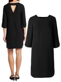 M&5 BLACK Bar Back 3/4 Sleeve Tunic Dress - Size 8 to 22