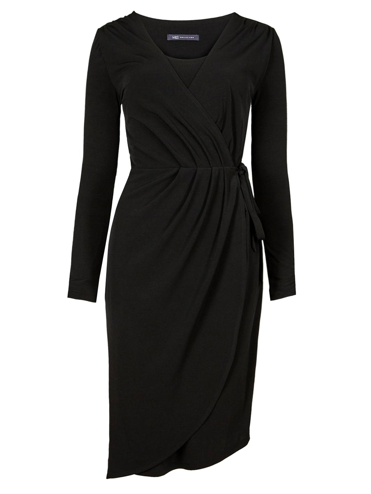 Black Wrap Dress Size 18