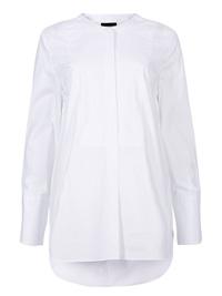 M&5 WHITE Stylish Pure Cotton Long Sleeve Shirt - Size 6 to 24