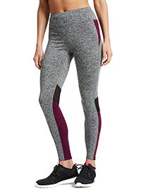 M&5 GREY Jaspe Quick Dry Sports Leggings - Size 8 to 12