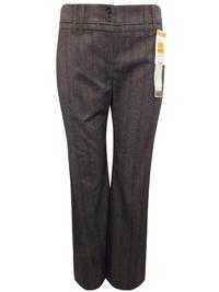 M&5 BROWN Herringbone Bootleg Trousers - Size 10 to 16