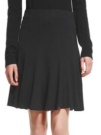 M&5 BLACK Panelled Flared Mini Skirt - Size 8 to 16