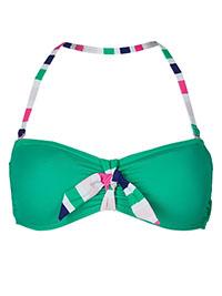 M&5 GREEN Padded Bandeau Bikini Top - Size 6 to 18