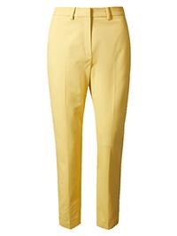 M&5 PALE-GOLD Modal Blend Slim Leg Ankle Grazer Trousers - Plus Size 16 to 20