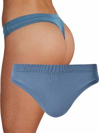 M&5 BLUE Modal Rich Flexifit Thong - Size 6 to 22